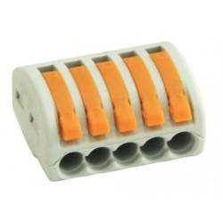 Conector rapid clipsare conductor flexibil 5x0,75-4 mmp