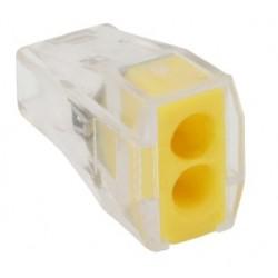 Conector rapid clipsare conductor rigid 2x0,75-2,5 mmp