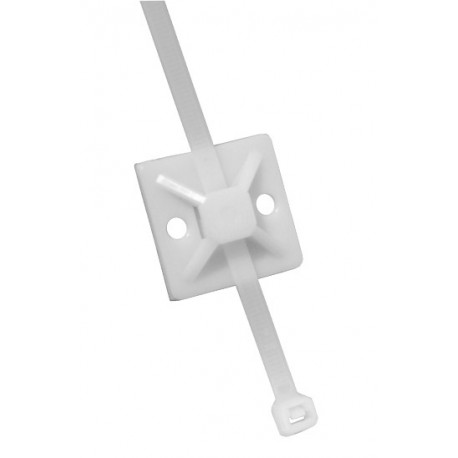 Suport cu adeziv pentru coliere PVC 20×20 6,1mm