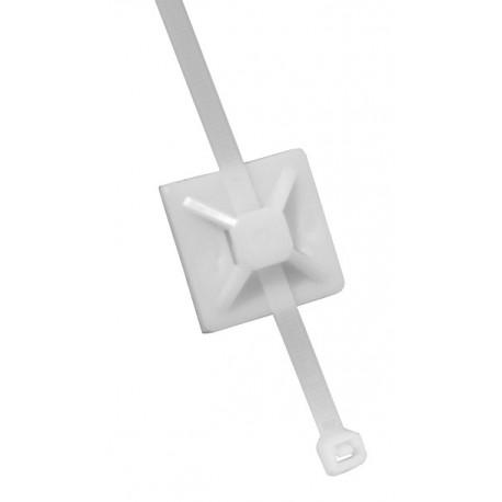 Suport cu adeziv pentru coliere PVC 40×40 6,4mm