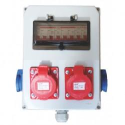 Tablou organizare santier 8L IP66 T2M2 IP66 echipat T1x16+T1x32+M2x16
