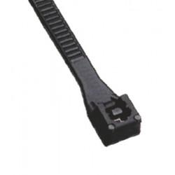 Colier nylon negru Elvon  400x6,8mm  Pret/Set/100Buc