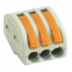 Conector rapid clipsare conductor flexibil 3x0,75-4 mmp