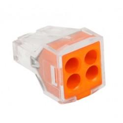 Conector rapid clipsare conductor rigid 4x0,75-2,5 mmp