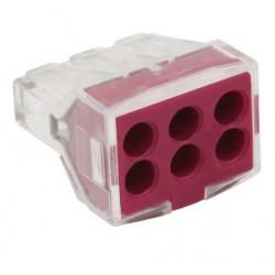 Conector rapid clipsare conductor rigid 6x0,75-2,5 mmp