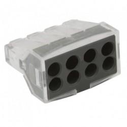 Conector rapid clipsare conductor rigid 8x0,75-2,5 mmp