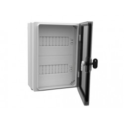 Dulap ABS cu usa transparenta echipat cu plastroane pentru MCBs 400x300x170