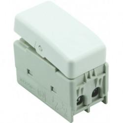 Intrerupator modular cap cruce Yriss alb/grafit